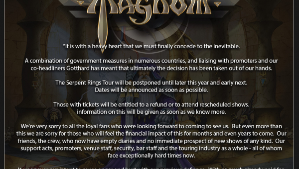 The Serpent Rings Tour Rescheduled